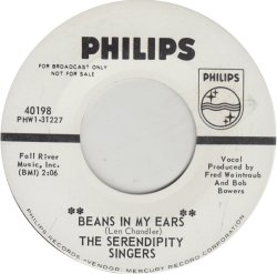 SERENDIPITY SINGERS - PHILIPS 40198 DJ ADD