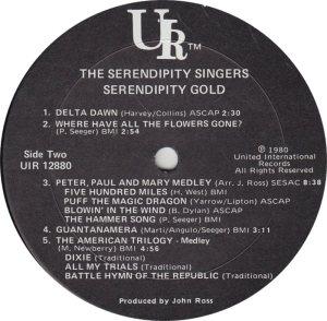 SERENDIPITY SINGERS - UR 12880 _0001