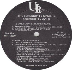 SERENDIPITY SINGERS - UR 12880