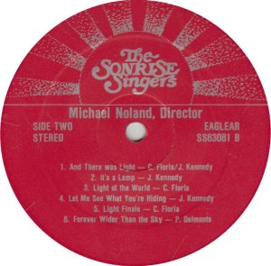 SONRISE SINGERS - EAGLEGEAR 63081 A (2)