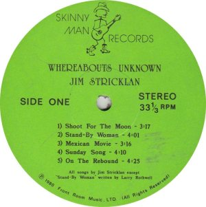 STRICKLAND JIM - SKINNY MAN R