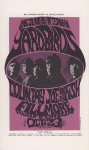 1966 10 - YARDBIRDS FILLMORE AUD SF CA
