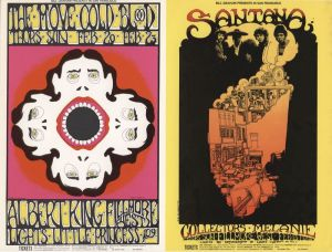 1969 02 - SANTANA POSTCARD FILLMORE WEST SF CA