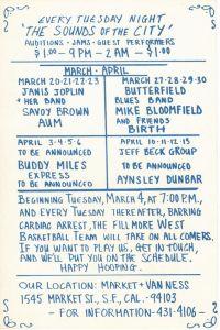 1969 03 - FILLMORE ANNOUNCEMENT SF CA