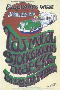 1971 04 - TAJ MAHAL WEST FILLMORE SF CA