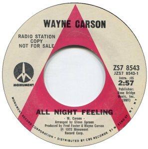 1972 05 - CARSON SINGS A