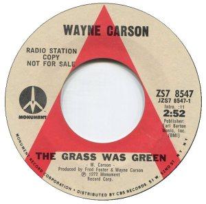 1972 07 - CARSON SINGS A