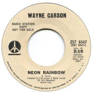 1972 07 - CARSON SINGS B