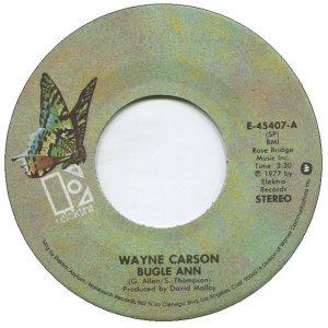 1977 07 - CARSON SINGS A