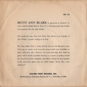 BLAKE BETTY ANN - 1957 09 B