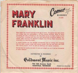 FRANKLIN MARY - 1960'S 01 B