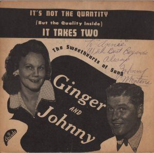 GINGER AND JOHNNY - 1950'S 01 B