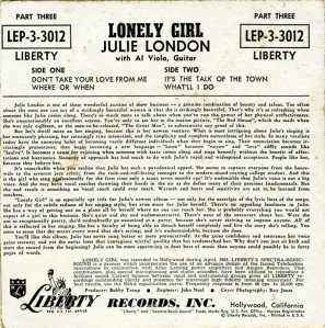 LONDON JULIE - 1956 01-2 B