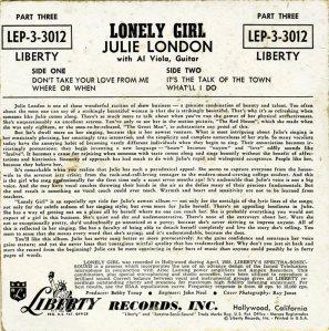 LONDON JULIE - 1956 01-2 B