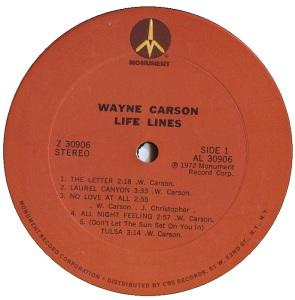 LP - CARSON 1972 03