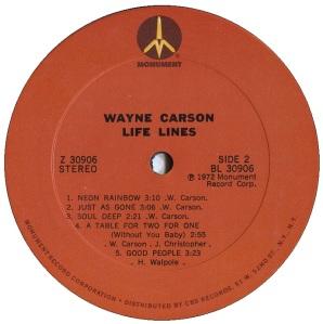 LP - CARSON 1972 04