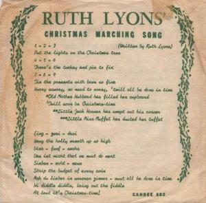LYONS RUTH - 1958 01 A