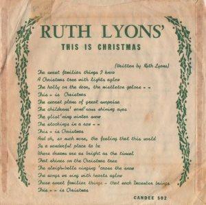 LYONS RUTH - 1958 01 B