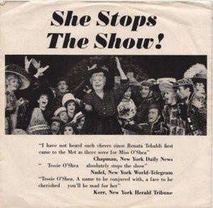 O'SHEA TESSIE - 1964 01 A