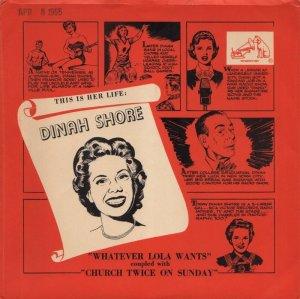 SHORE DINAH - 1955 04 A