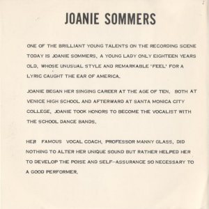 SOMMERS JOANIE - 1961 09 D