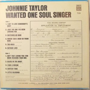 1967-01 STAX 715 JOHNNIE TAYLOR B