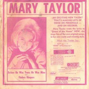 TAYLOR MARY - 1965 08 A