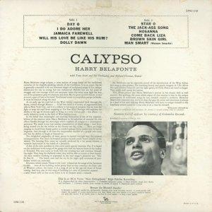 1956 - BELAFONTE CALYPSO B