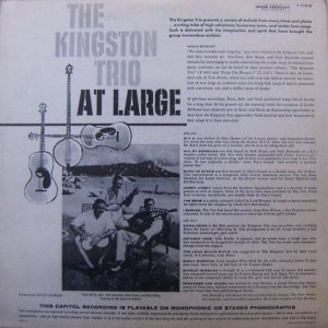 1959 - KINGSTON TRIO AT LARGE B