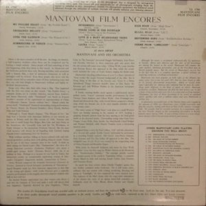 1959 - MANTONVANI FILM ENCORES B