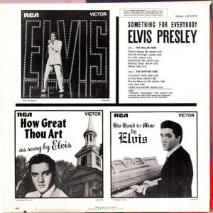 1961 - ELVIS SOMETHING FOR EVERYBODY B
