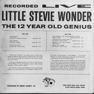 1963 - STEVIE WONDER GENIOUS B
