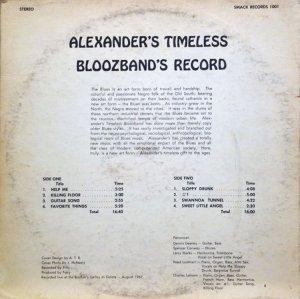 ALEXANDERS TIMELESS BLOOZ 1967 B
