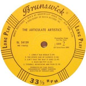 ARTISTICS 1968 D