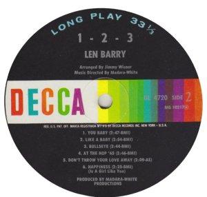 BARRY LEN 1965 D
