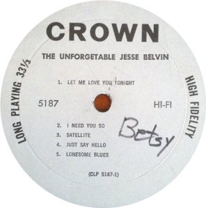 BELVIN JESSE 1959 C