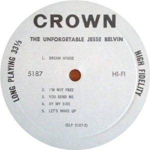 BELVIN JESSE 1959 D