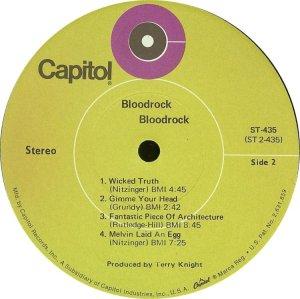 BLOODROCK 1970 D