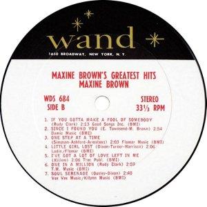BROWN MAXINE 1967 D