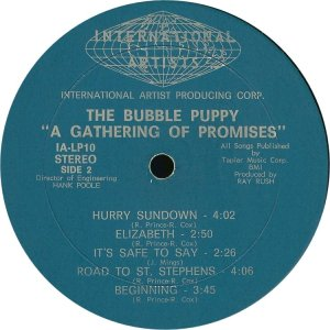 BUBBLE PUPPY 1969 D