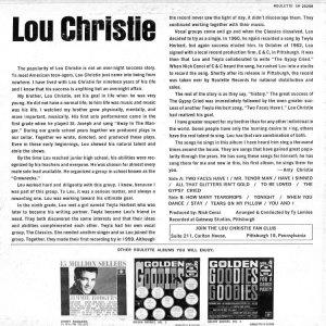 CHRISTIE LOU 1963 B