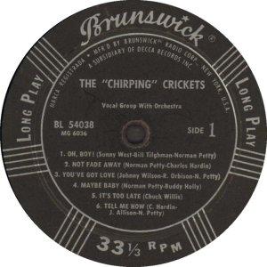 CRICKETS - 1957 C