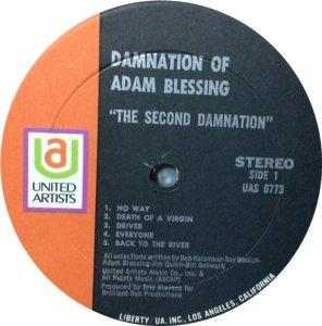 DAMNATION ADAM BLESSING 1970 C
