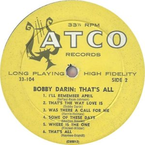 DARIN BOBBY 1959 D