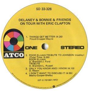 DELANEY BONNIE 1970 C