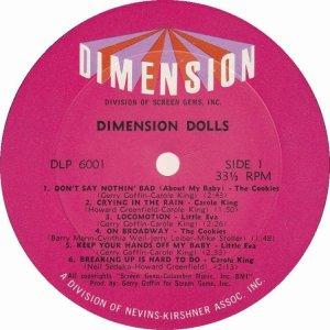 DIMENSION DOLLS 1962 C
