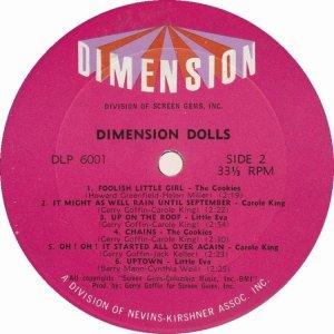 DIMENSION DOLLS 1962 D