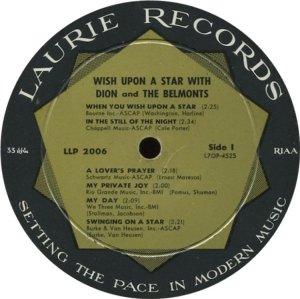 DION & BELMONTS 1960 C