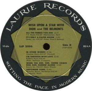 DION & BELMONTS 1960 D