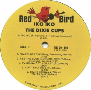 DIXIE CUPS 1965 C